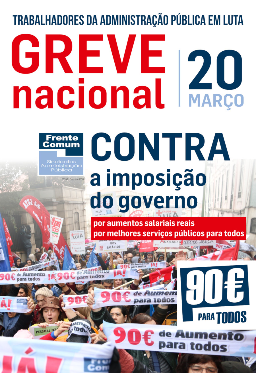 Cartaz GreveNacionalFC 20MAR